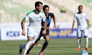 Dàn cầu thủ Iraq cao to vượt trên 1,8 m