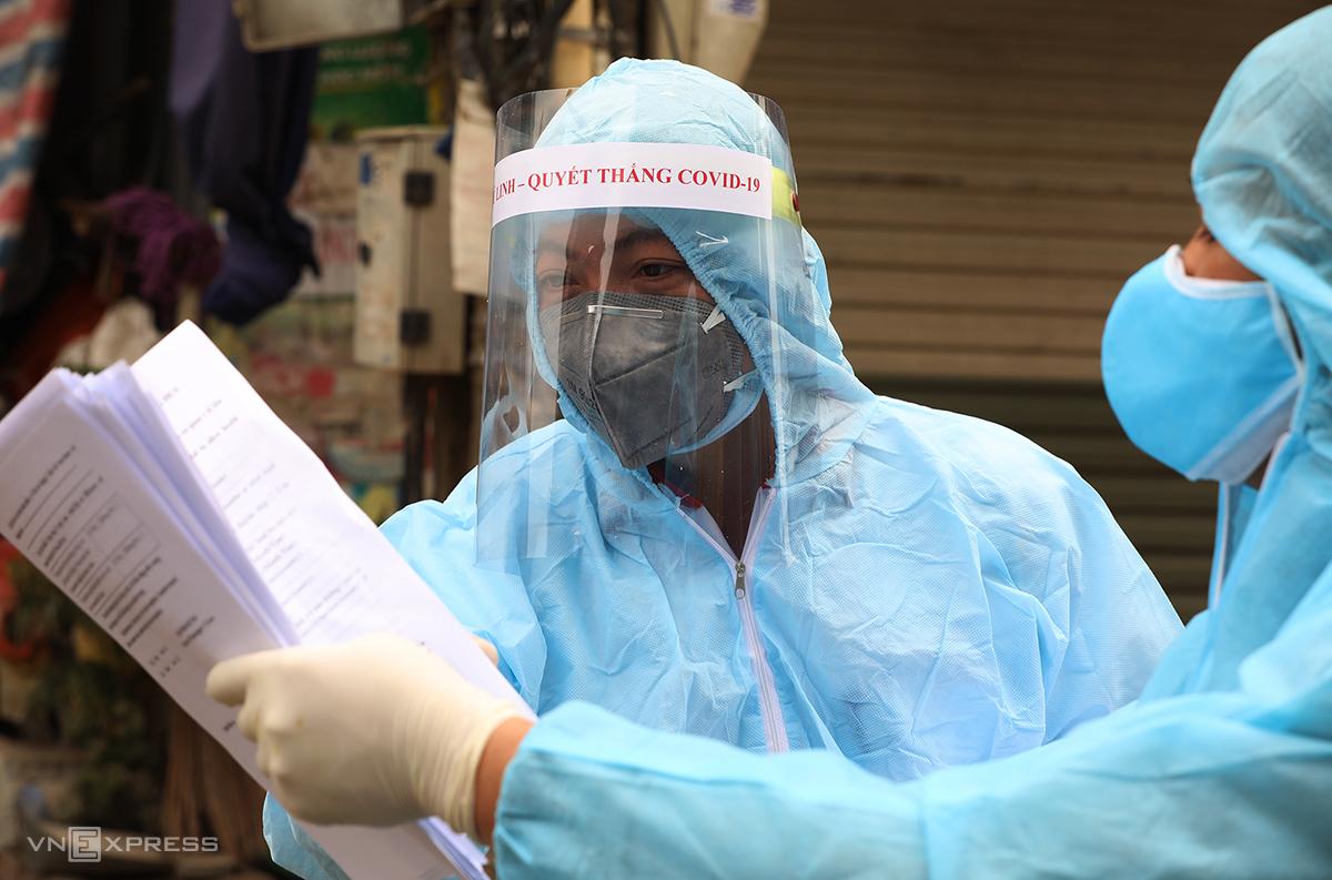Đường dịch tễ ca nghi nhiễm mới ở Hà Nội