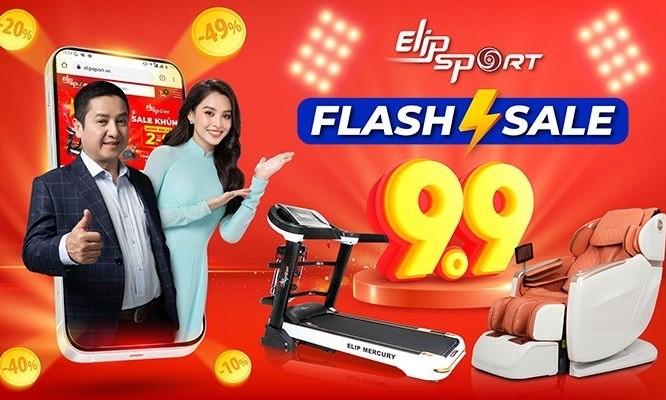 Elipsport giảm 50% máy chạy bộ, ghế massage dịp 9/9