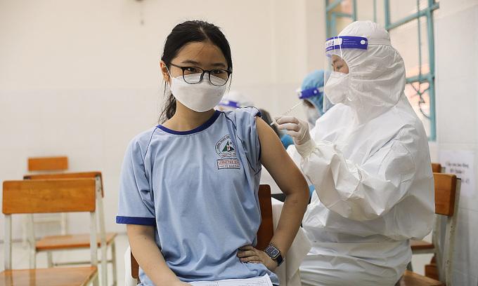 Gần 40.000 trẻ em TP HCM đã tiêm vaccine Covid-19